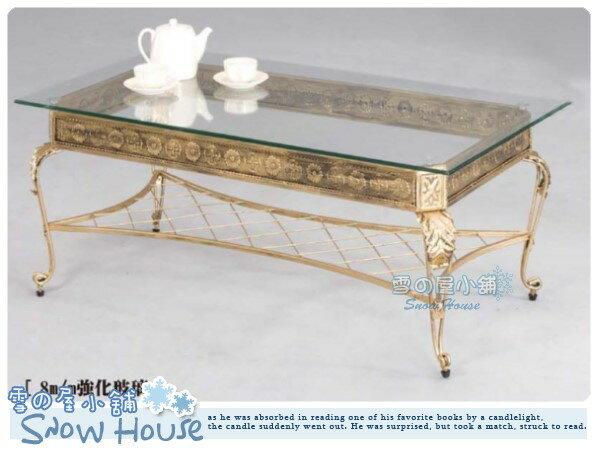 ╭☆雪之屋居家生活館☆╯R951-05 718玻璃面大茶几(B-84架)(8m/m強化玻璃)/置物桌/休閒桌/造型餐桌