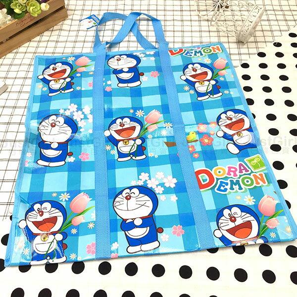 哆啦A夢 小叮噹 收納袋 購物袋 手提袋 防塵袋 防水帆布 居家 正版日本授權 JustGirl