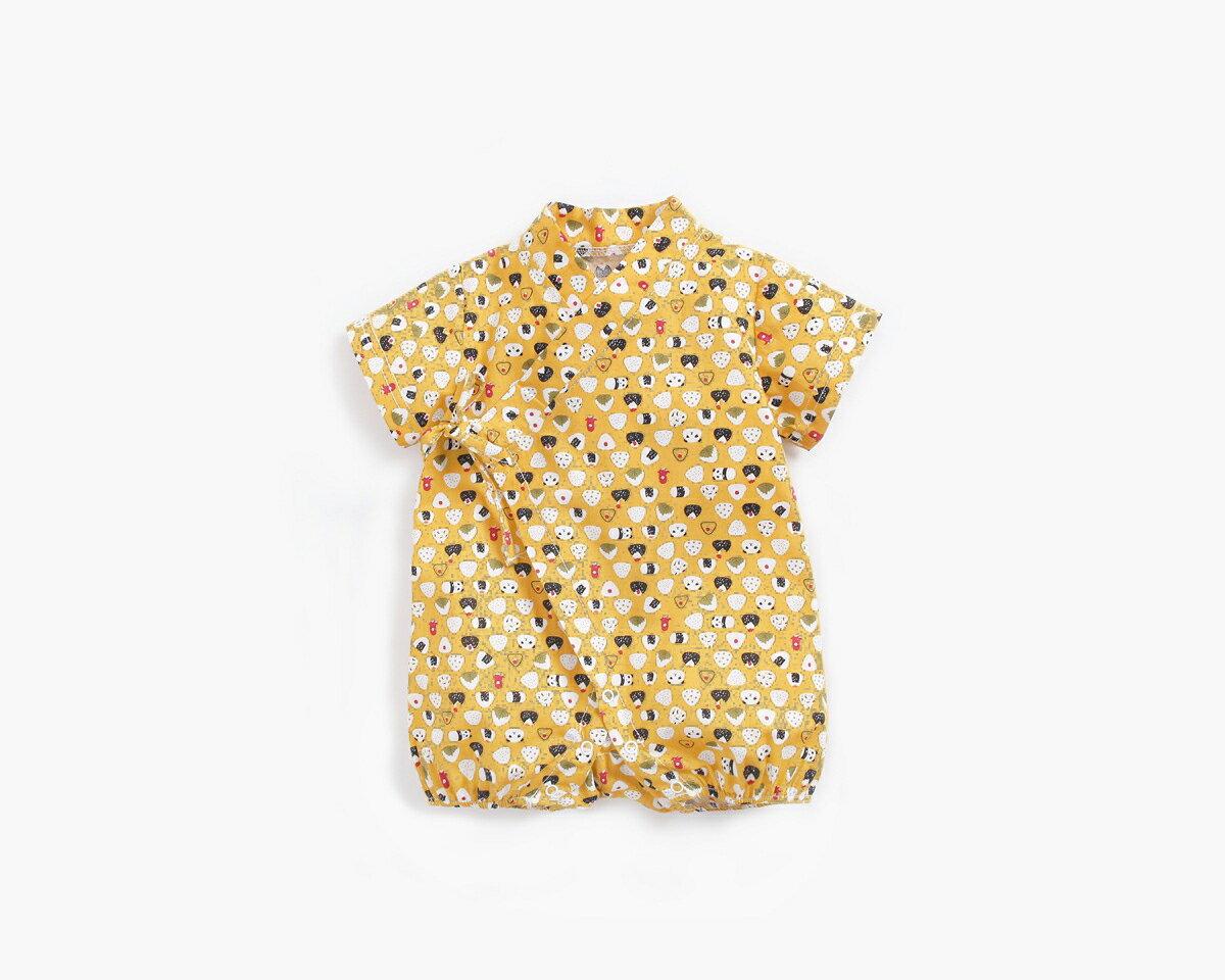 滿印熊貓飯糰 新生兒 日式和服包屁衣 浴衣 和服 連身衣 嬰兒 造型服 新生兒 橘魔法 現貨 男童【p0061206375662】 1