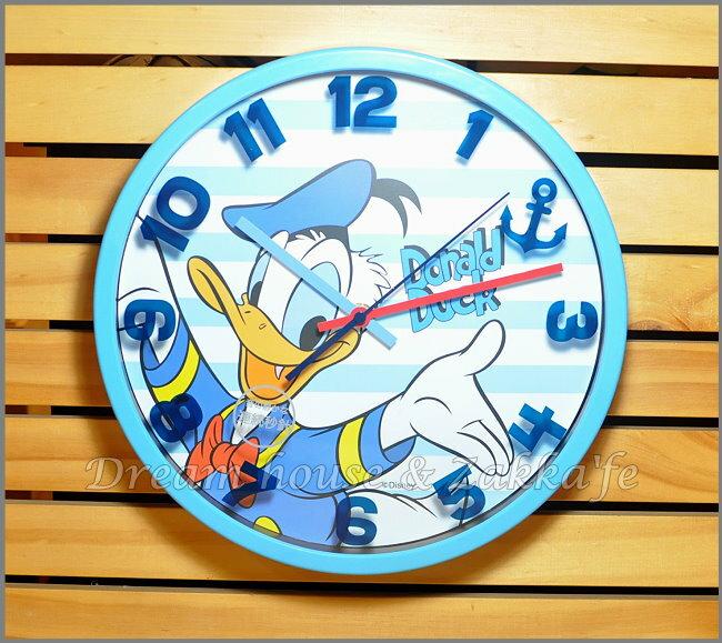 日本正版 Disney 迪士尼 唐老鴨 掛鐘/時鐘《 靜音無聲連續機芯 》★ 簡單時尚可愛 ★ 夢想家精品家飾