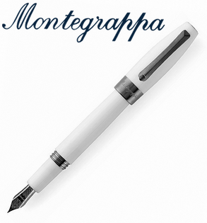 義大利Montegrappa萬特佳財富系列-鋼筆(白-黑夾)ISFOR_LH支
