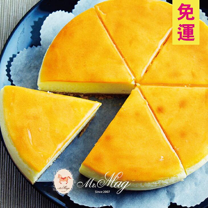 (免運)濃酪起士蛋糕 6吋【馬各先生】選用頂級澳洲乳酪,奶香濃郁略帶酸味,搭配手工自製酥脆餅皮,每一口都能嘗到綿密厚實乳酪,特別適合喜歡重乳酪的您。 0