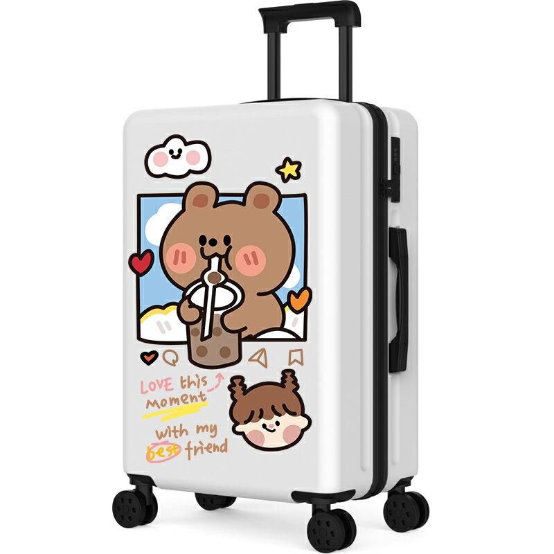 行李箱網紅萬向輪小型拉桿箱20寸可愛涂鴉旅行皮箱子女男學生