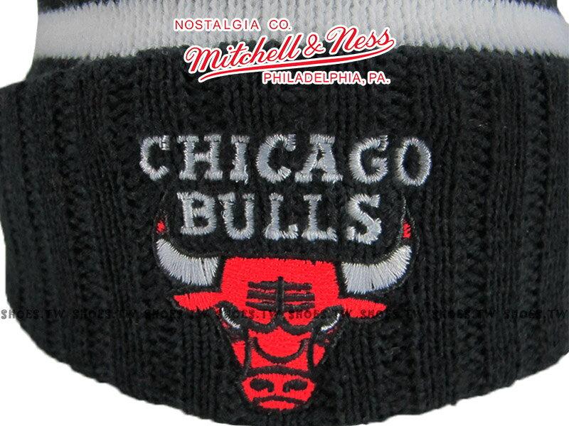 《下殺6折》Shoestw【5056036179529】Mitchell & Ness 毛帽 NBA毛帽 公牛隊 內刷毛 黑紅 1