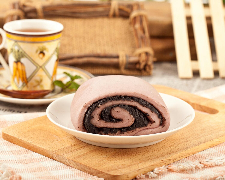 紫地瓜芝麻饅頭 1