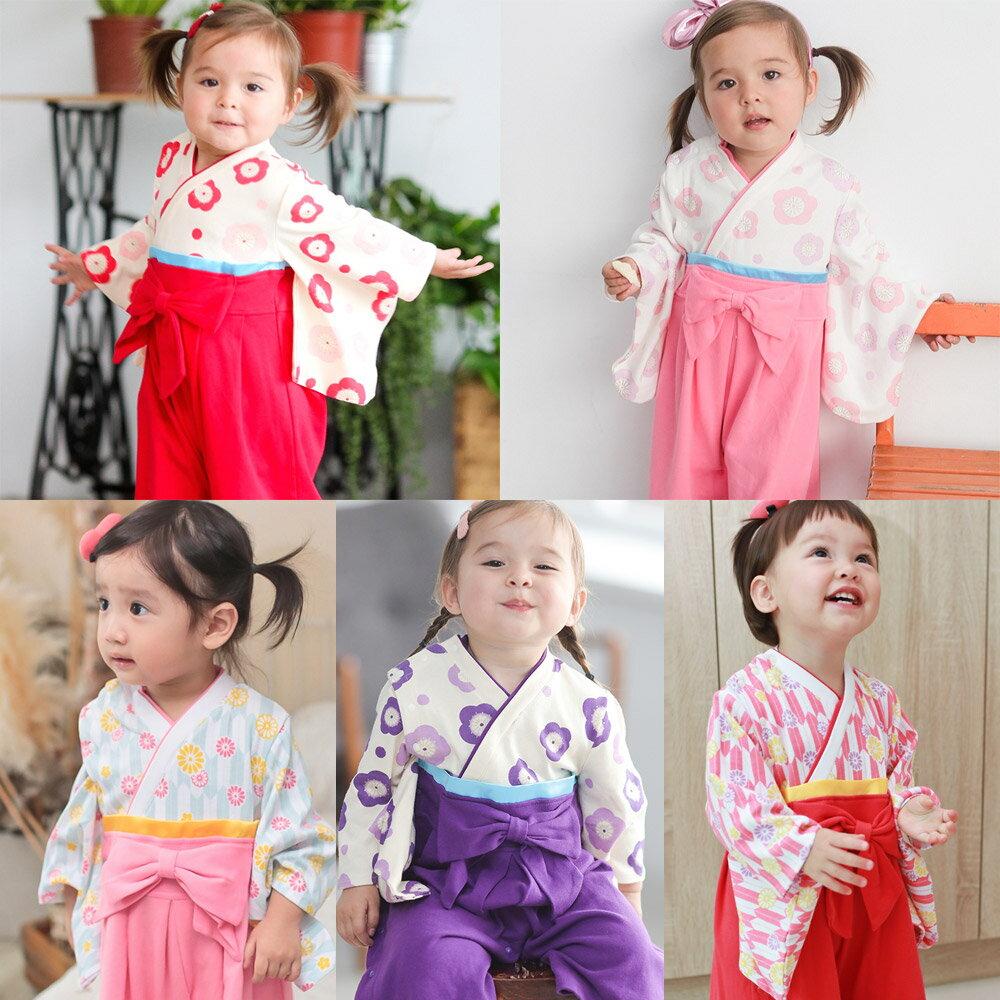 連身衣 日式 和服 造型服 女寶寶 爬服 哈衣 扮演服 派對 Augelute Baby 37301 0