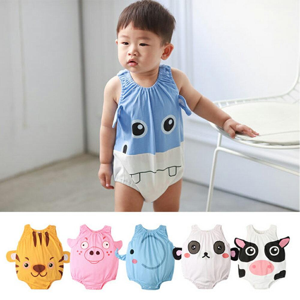 Augelute Baby 可愛動物款 無袖連身衣 41271 0