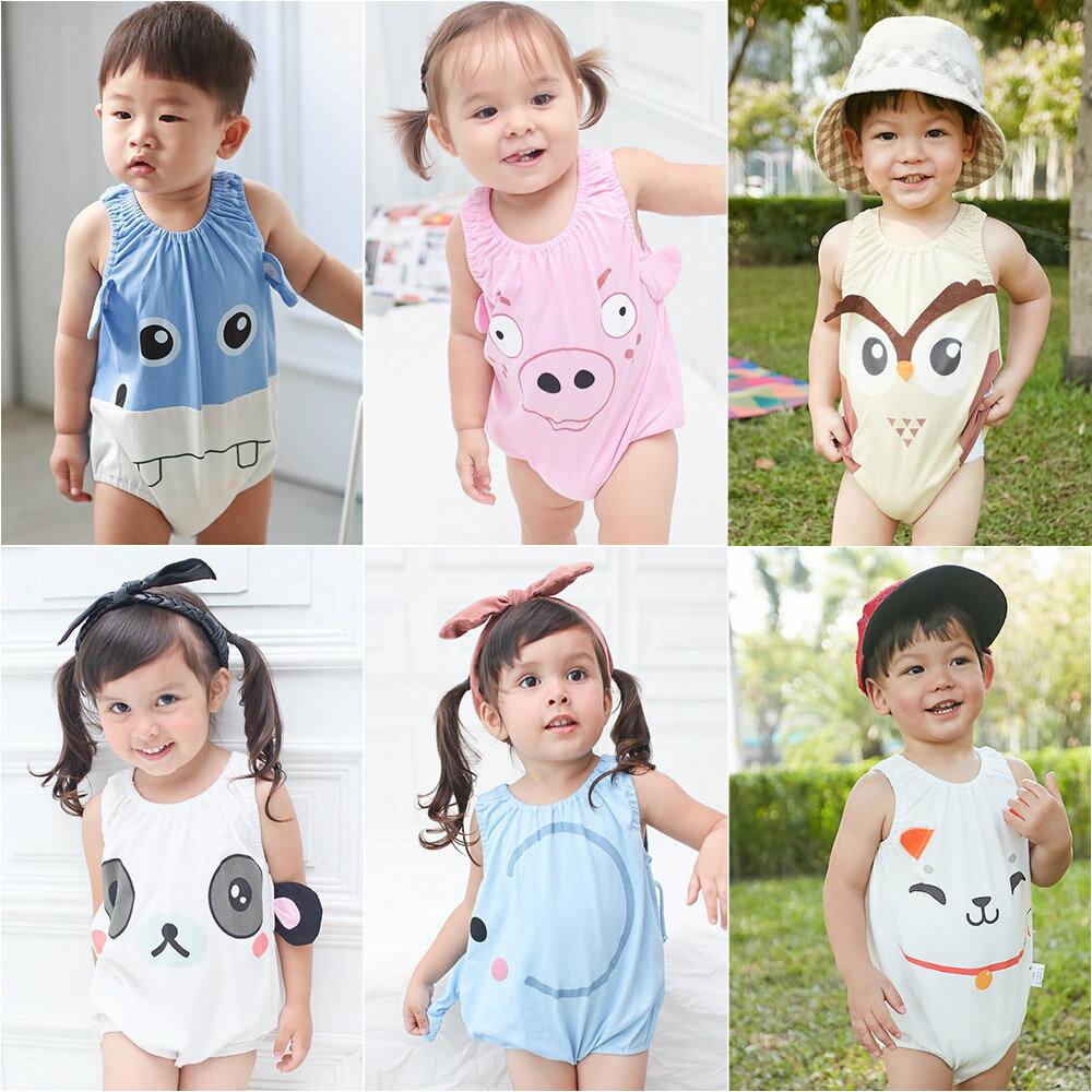 Augelute Baby 可愛動物款 無袖連身衣 41271 2