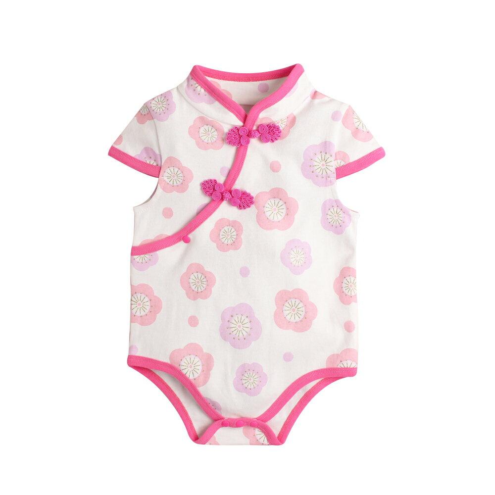 Augelute Baby 斜襟漂亮花朵短袖包屁衣 60321 3