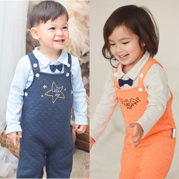 baby童衣:AugeluteBaby兩件式領結上衣搭吊帶褲70001