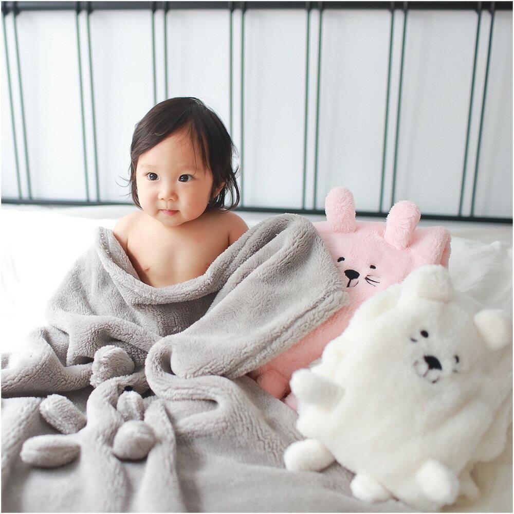 造型包巾 嬰兒包被 動物被毯 毛毯 小被單 安撫巾 70041(好窩生活節)