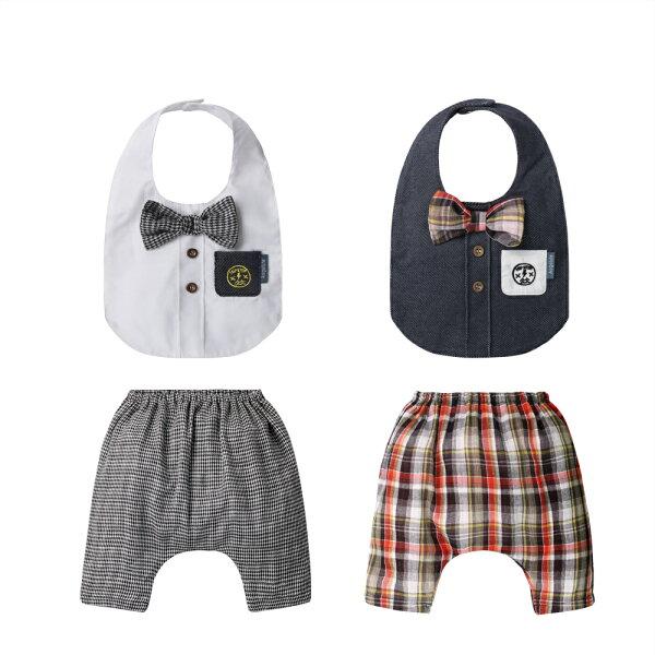 baby童衣:寶寶褲英倫紳士哈倫褲附造型圍兜80066