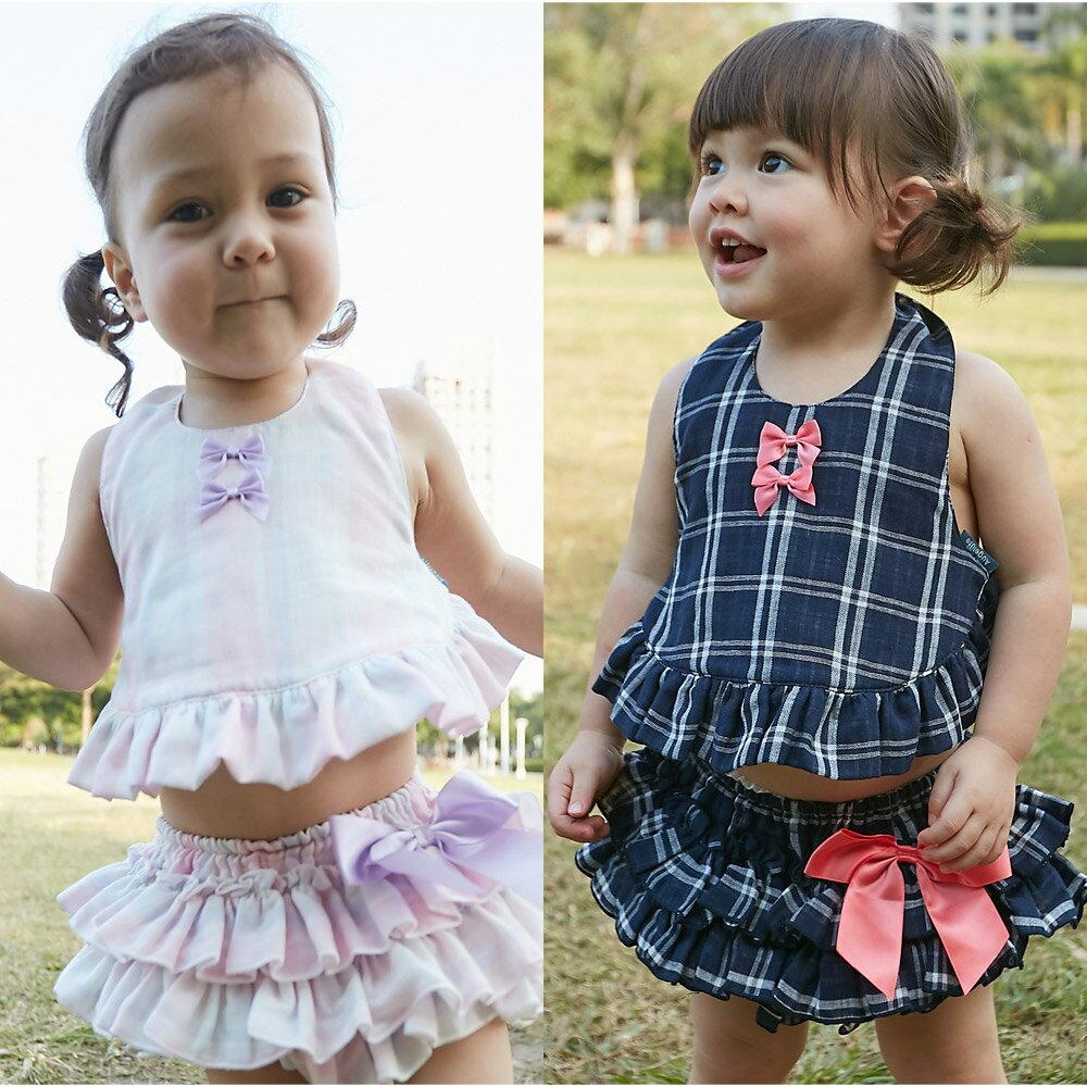 買就送 女寶寶套裝 百摺肚兜 屁屁裙 女寶寶 2件套 80067