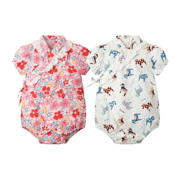 baby童衣:女寶寶包屁衣和服造型三角包屁衣80070