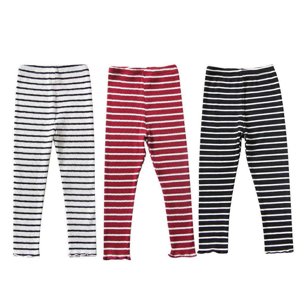條紋內搭褲 男女童可穿 彈力針織打底褲 88204(好窩生活節) 0
