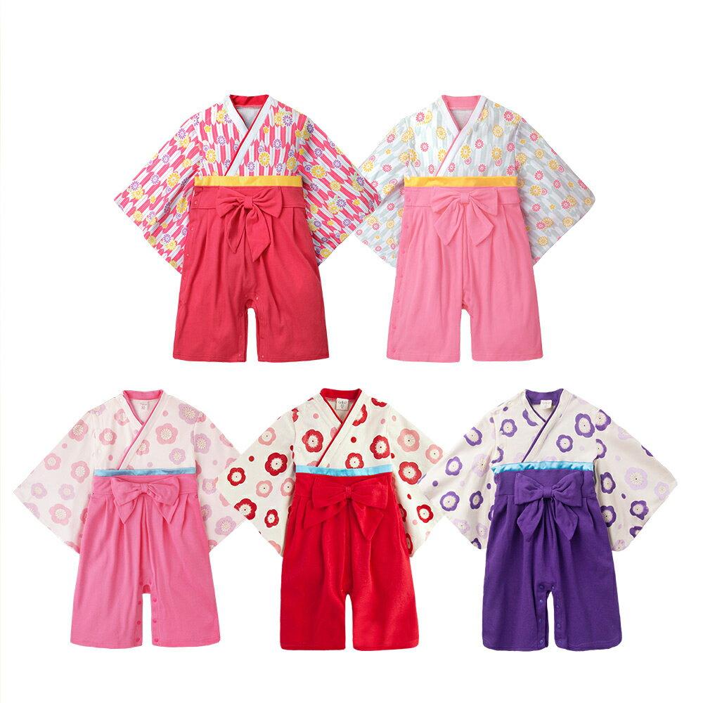 連身衣 日式 和服 造型服 女寶寶 爬服 哈衣 扮演服 派對 Augelute Baby 37301 1