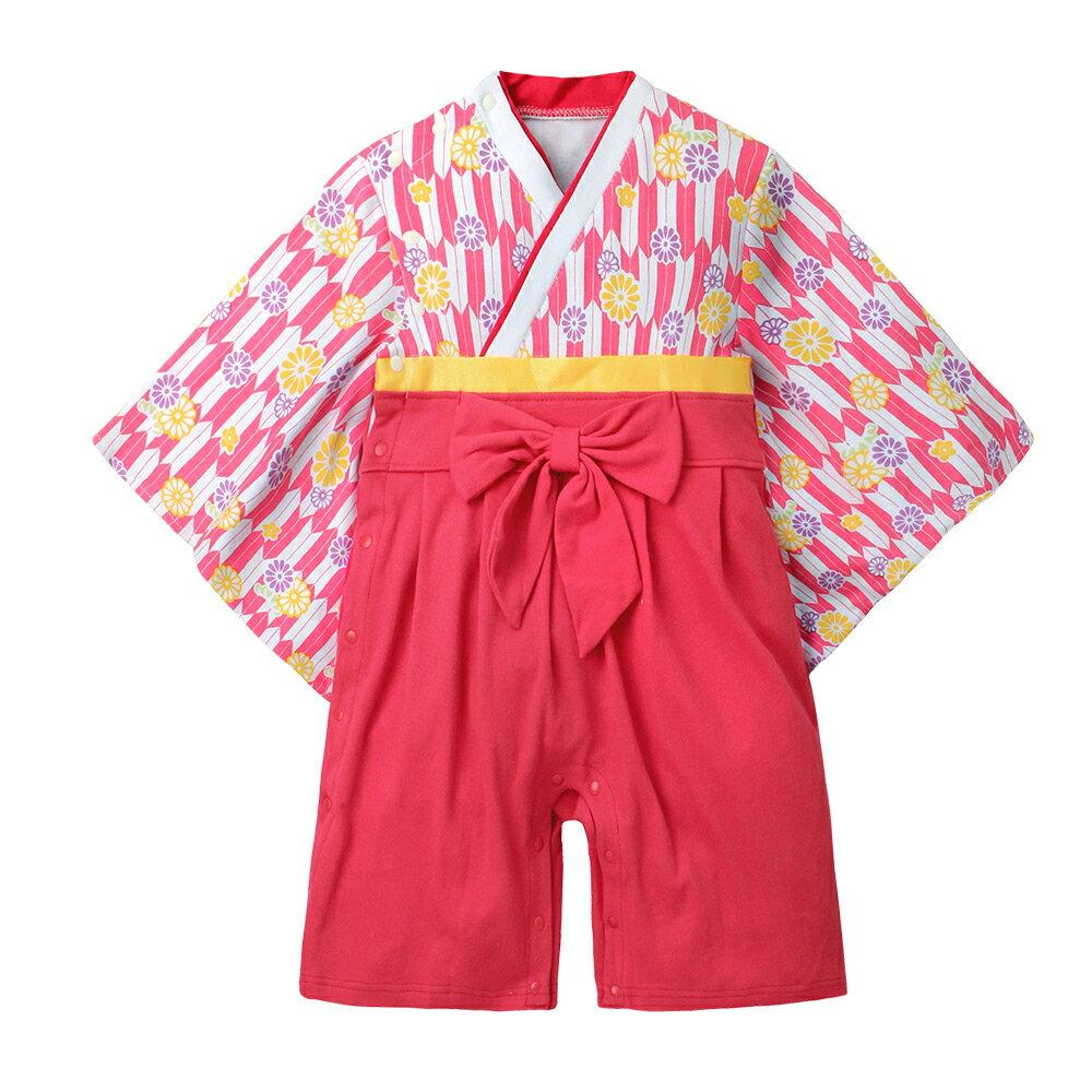 連身衣 日式 和服 造型服 女寶寶 爬服 哈衣 扮演服 派對 Augelute Baby 37301 6