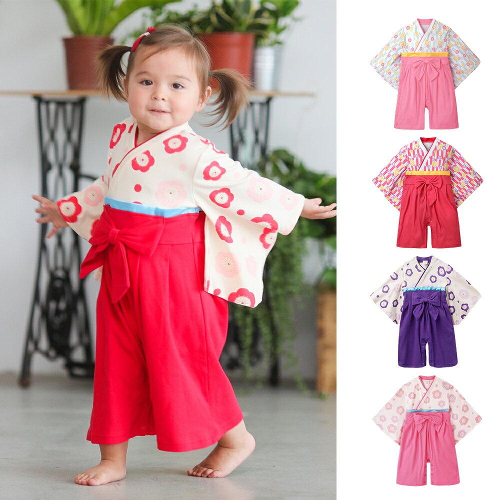 Augelute Baby  女童日式和服造型連身衣 37301