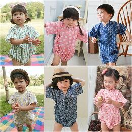 日式浴衣 造型服 連身衣 三角和服 四角 寶寶 爬服 哈衣 Baby