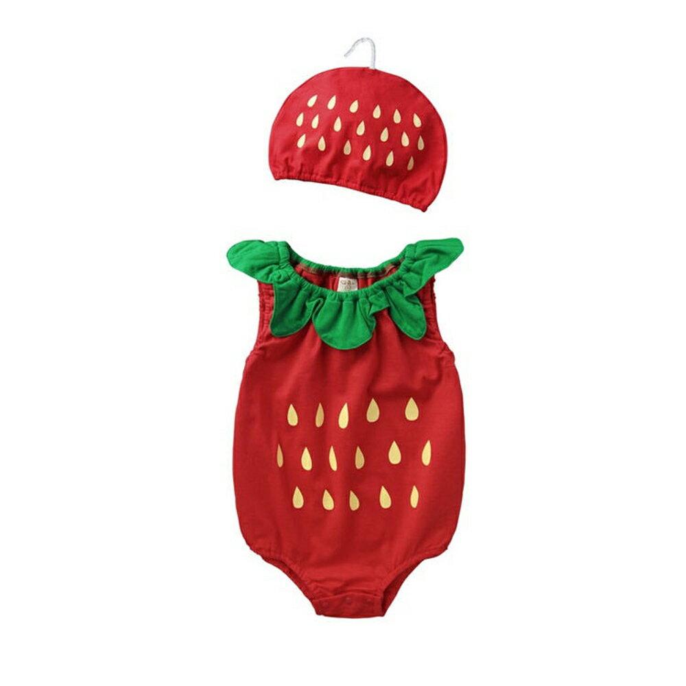 Augelute Baby 水果造型連身衣套裝 附帽子 51015 90066(好窩生活節) 2