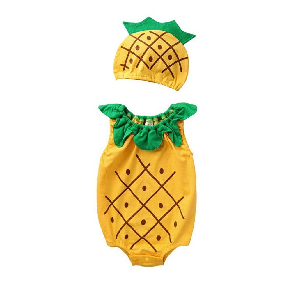 Augelute Baby 水果造型連身衣套裝 附帽子 51015 90066(好窩生活節) 3