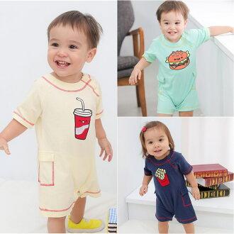 Augelute Baby 短袖純棉刺繡連身衣 60012