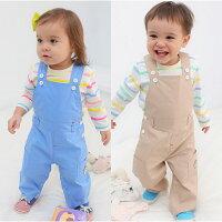 婦嬰用品Augelute Baby 繽紛條紋上衣+工作服造型吊帶褲 2件套 60019(好窩生活節)。就在baby童衣婦嬰用品