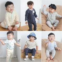 Augelute Baby 居家套裝組 包屁衣+套裝3件套 60147-baby童衣-媽咪親子推薦