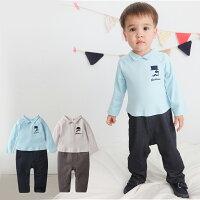 婦嬰用品-嬰兒用品推薦Augelute Baby 假2件簡約紳士風連身衣 60200(好窩生活節)。就在baby童衣婦嬰用品-嬰兒用品推薦