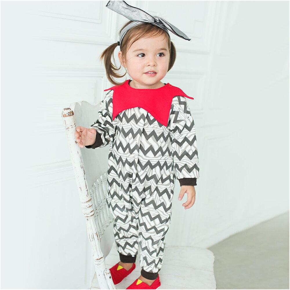 Augelute Baby 小精靈造型翻領刷毛連身衣 60279 0
