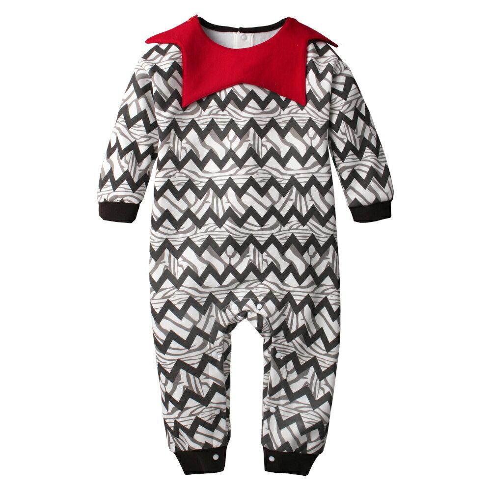 Augelute Baby 小精靈造型翻領刷毛連身衣 60279 1
