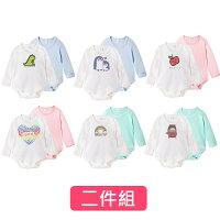 婦嬰用品-嬰兒用品推薦Augelute Baby 獨家自訂款 純棉長袖數位印花素面包屁衣 2件組 61161(好窩生活節)。就在baby童衣婦嬰用品-嬰兒用品推薦