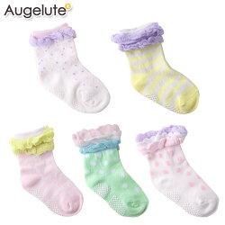 防滑襪 女寶寶 棉質 造型花邊 公主襪  襪子 寶寶襪 不挑款 Augelute Baby 30894