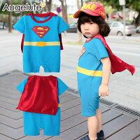 蝙蝠俠與超人周邊商品推薦Augelute Baby 超人造型披風連身衣 32002