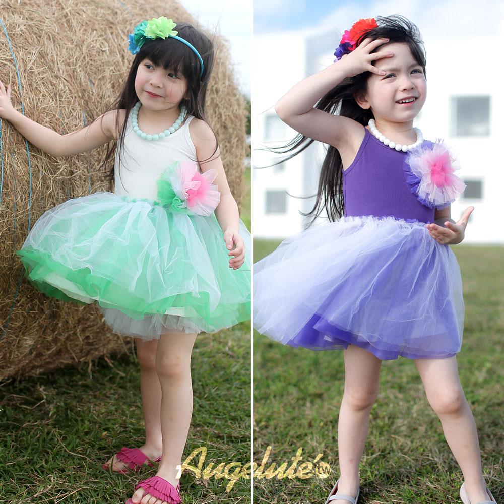 Augelute 女童 甜美蓬蓬紗洋裝 32034