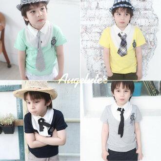 Augelute 兒童 領帶POLO衫上衣 32062