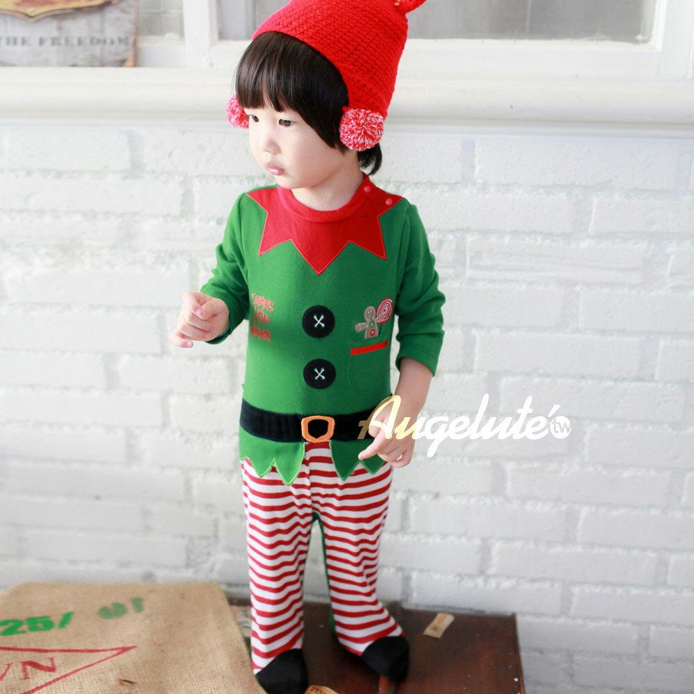 Augelute Baby 聖誕小精靈造型包腳連身衣 37161