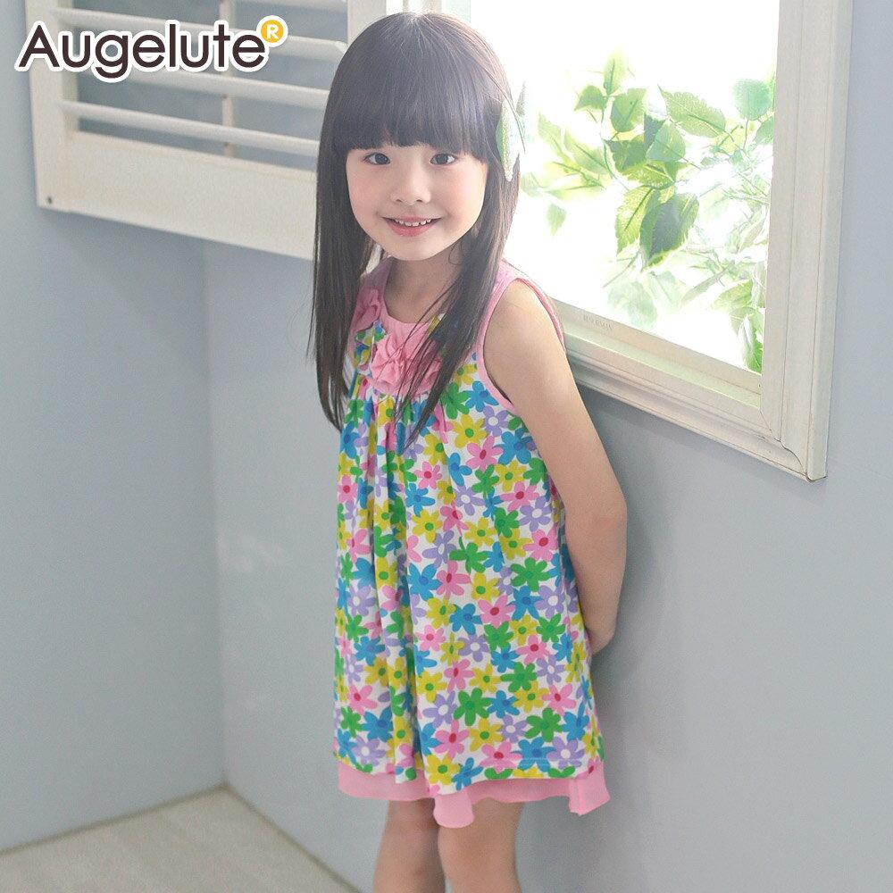 Augelute 女童 漂亮花朵連身裙 42163