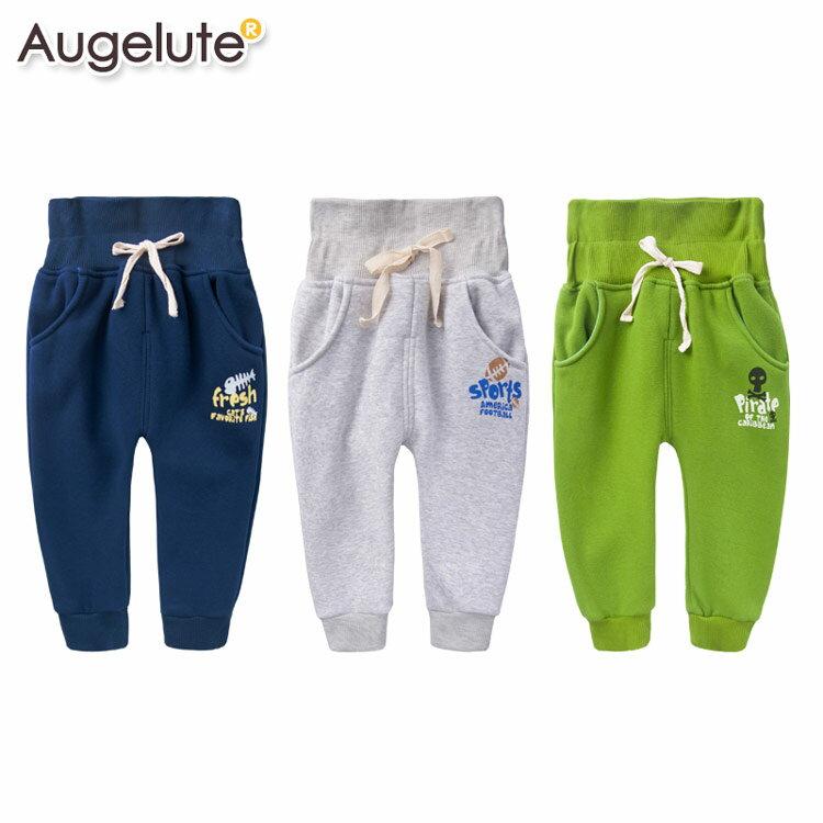 Augelute 兒童 厚棉內刷毛印字護肚褲 47061