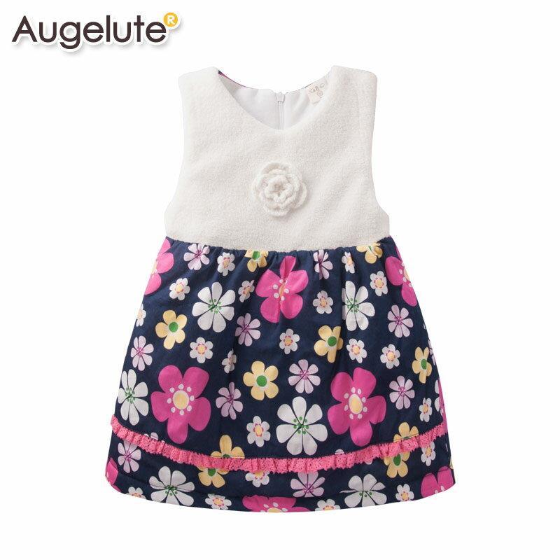 Augelute 氣質花朵印花保暖背心洋裝 47139(好窩生活節)