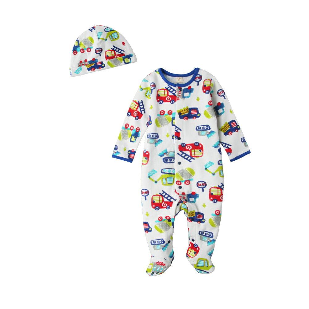 Augelute Baby 純棉長袖包腳連身衣 含嬰兒帽   50517 1