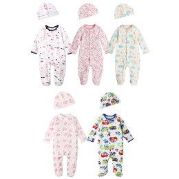 Augelute Baby 純棉長袖包腳連身衣 嬰兒帽