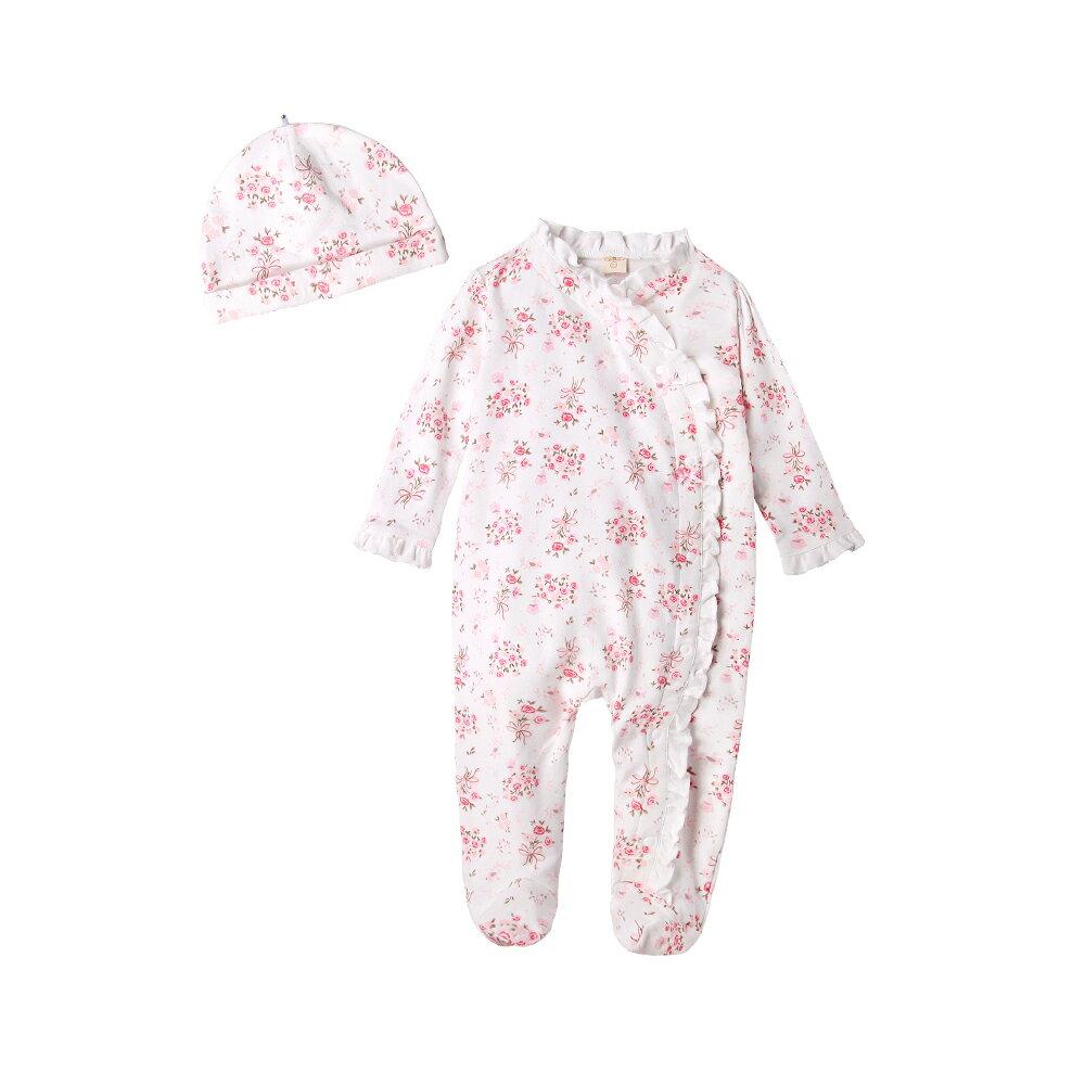 Augelute Baby 純棉長袖包腳連身衣 含嬰兒帽   50517 2