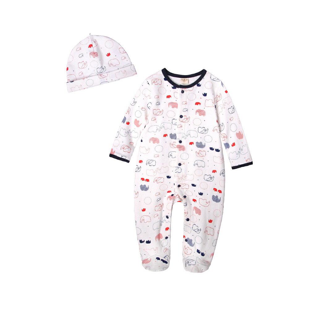 Augelute Baby 純棉長袖包腳連身衣 含嬰兒帽   50517 3