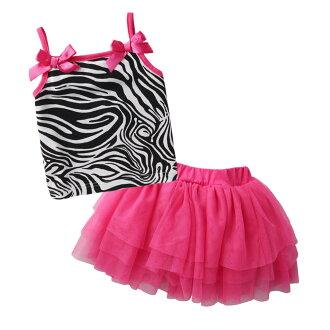 Augelute Baby 豹紋吊帶小背心紗裙 套裝 52234