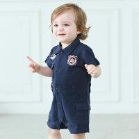 婦嬰用品Augelute Baby 前開扣徽章連身工作服 52254(好窩生活節)。就在baby童衣婦嬰用品