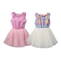 婦嬰用品Augelute 格紋蝴蝶結蕾絲紗紗洋裝 52266(好窩生活節)。就在baby童衣婦嬰用品