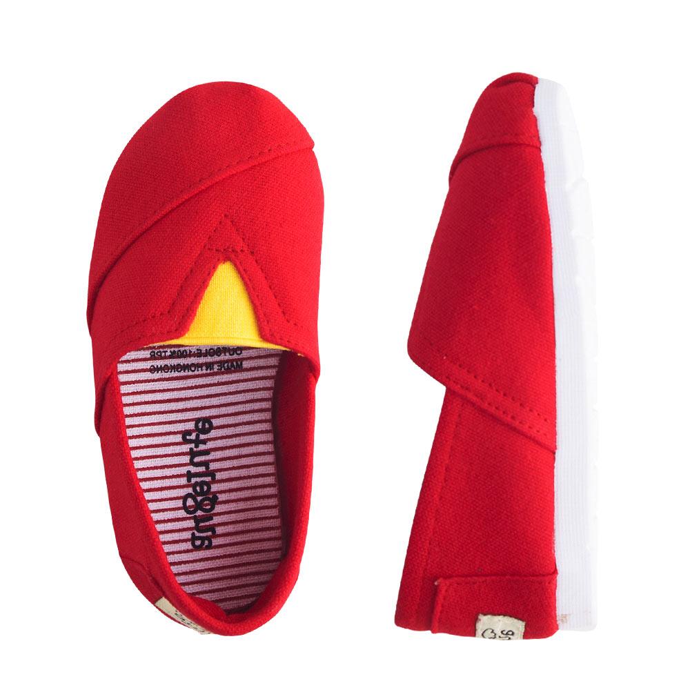 懶人鞋 童鞋 條紋 平底鞋 休閒鞋 男童 女童 經典百搭 素面 鞋子 Augelute F1051 2