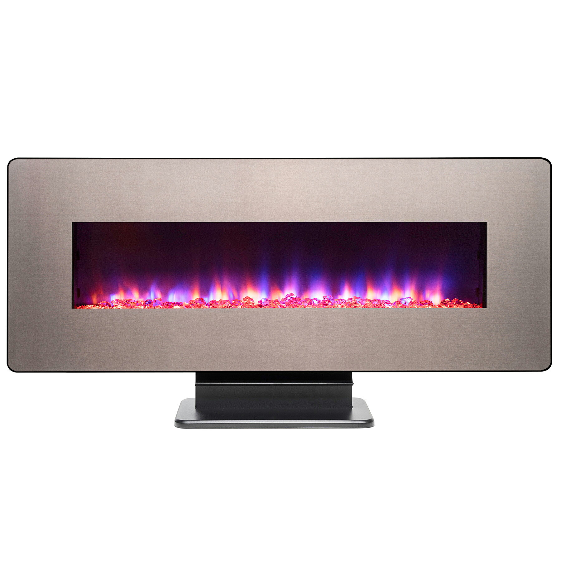 """AKDY 48"""" Freestanding Wall Mount Interchangeable Adjustable Flame Electric Fireplace Heater Stove w/ Remote 0"""