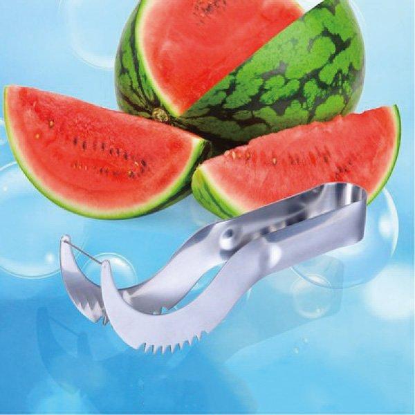 不銹鋼堅固實用切西瓜神器西瓜切片器西瓜切水果分割器【櫻桃飾品】【23525】